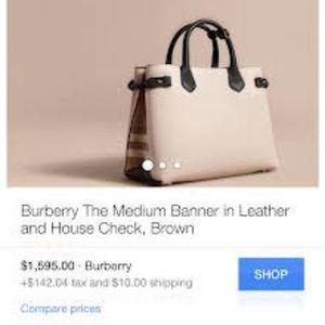 White Burberry purse, authentic